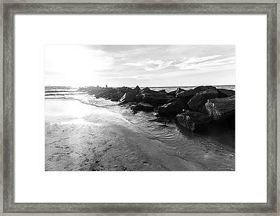Framed Print featuring the photograph The Jetty by Eric Christopher Jackson