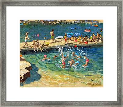 The Jetty, Rovinj, Croatia Framed Print by Andrew Macara