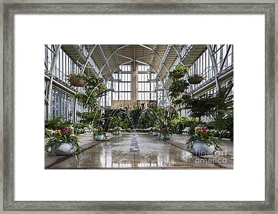 The Jewel Box Fountain Framed Print