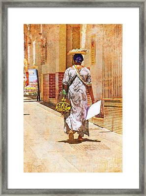 Framed Print featuring the photograph The Jewelry Seller - Malaga Spain by Mary Machare