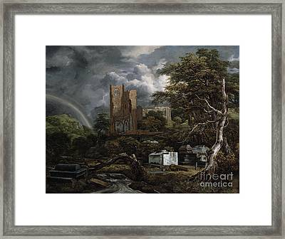 The Jewish Cemetery Framed Print by Jacob Isaaksz Ruisdael