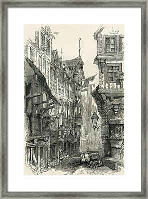 The Jewish Quarter, Frankfurt Am Main Framed Print