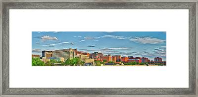 Framed Print featuring the photograph The Johns Hopkins Hospital Complex by Mark Dodd