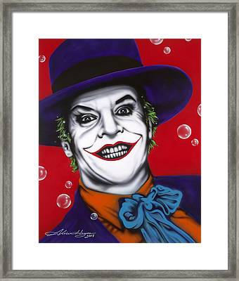 The Joker Framed Print by Alicia Hayes