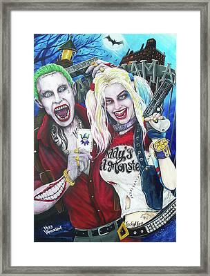 The Joker And Harley Quinn Framed Print