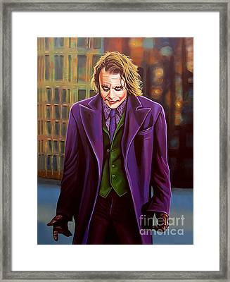 The Joker In Batman  Framed Print
