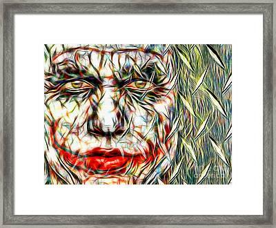 The Joker In Color Framed Print by Daniel Janda