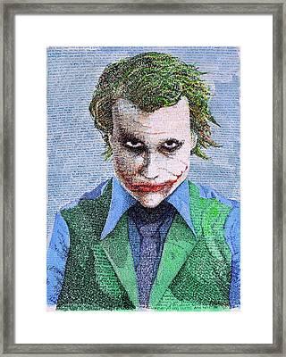 The Joker In His Own Words Framed Print