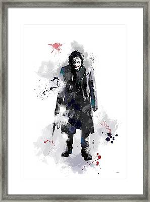 The Joker Framed Print by Marlene Watson