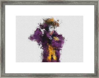 The Joker Framed Print by Miranda Sether