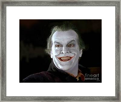 The Joker Framed Print by Paul Tagliamonte