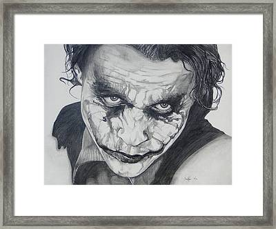 The Joker Framed Print by Stephen Sookoo