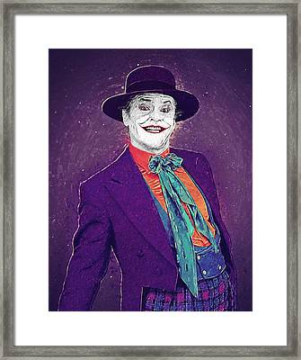The Joker Framed Print by Taylan Apukovska
