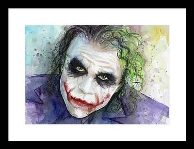 Joker Framed Prints