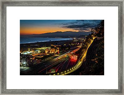 The Jonathan Beach Club - Night  Framed Print