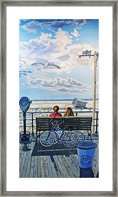 The Jones Beach Boardwalk Framed Print by Bonnie Siracusa