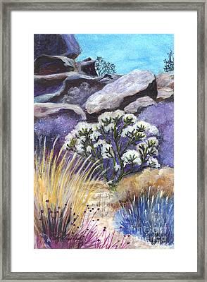 The Joshua Tree Framed Print by Carol Wisniewski