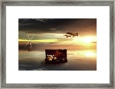 Framed Print featuring the digital art The Journey Begins  by Nathan Wright
