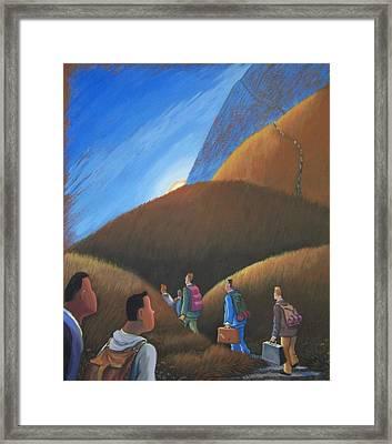 The Journey Men Framed Print by Marjorie Hause