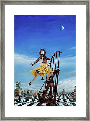 The Journey Of A Librarian Framed Print by Cindy D Chinn