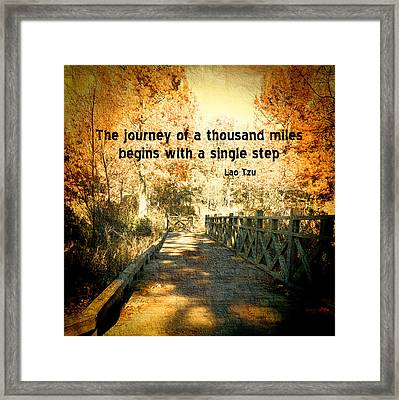 The Journey - Textured Photo Art  Framed Print by Ann Powell