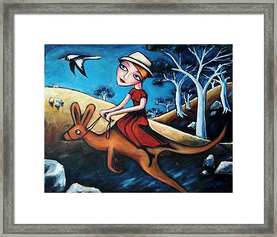 The Journey Woman Framed Print