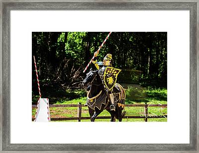 The Jousting Pass Framed Print