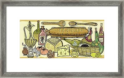 The Joy Of Cooking Framed Print