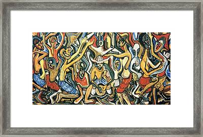 The Joy Of Democratic Freedom Framed Print by Mbonu Emerem