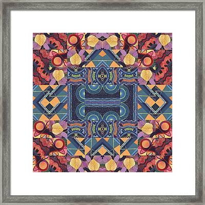 The Joy Of Design Mandala Series Puzzle 5 Arrangement 7 Framed Print
