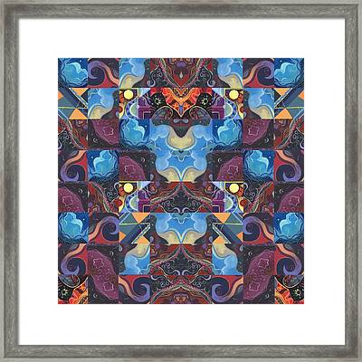 The Joy Of Design Mandala Series Puzzle 6 Arrangement 1 Framed Print by Helena Tiainen