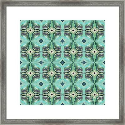 The Joy Of Design X X X I I Arrangement 1 Inverted Tile 4x4 Framed Print by Helena Tiainen