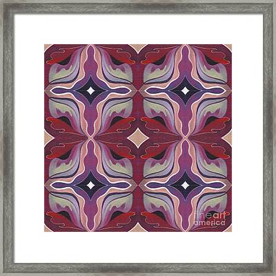 The Joy Of Design X X X I I Arrangement 1 Tile 2x2 Framed Print by Helena Tiainen