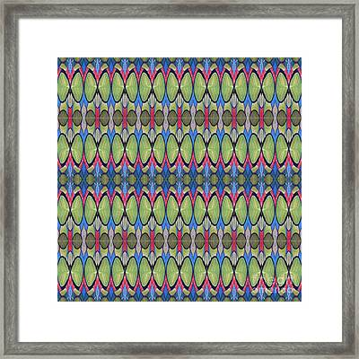 The Joy Of Design X X X I I I Arrangement 1 Tile 9x2 Framed Print by Helena Tiainen