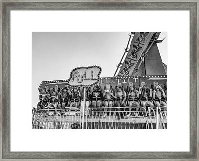 The Joy Of Fear - Bw Framed Print