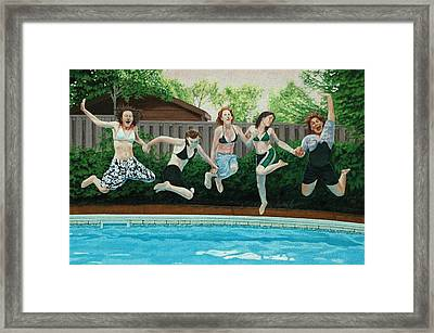The Joy Of Girls Framed Print by Allan OMarra