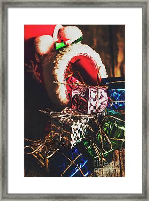 The Joy Of Giving On Christmas Framed Print by Jorgo Photography - Wall Art Gallery
