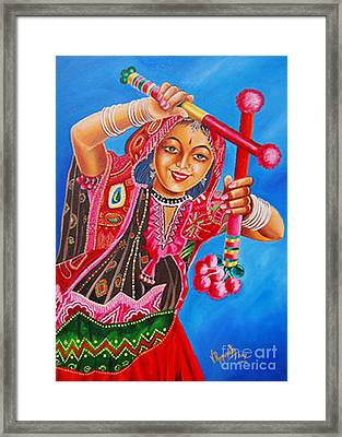 Framed Print featuring the painting The Joy Of Life by Ragunath Venkatraman