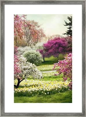 The Joy Of Spring Framed Print