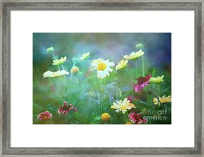 The Joy Of Summer Flowers Framed Print