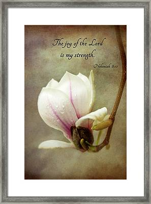 The Joy Of The Lord Framed Print by Mary Jo Allen