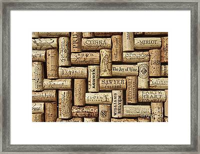 The Joy Of Wines Framed Print by Anthony Jones