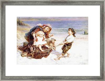 The Joy Ride  Framed Print by Frederic Remington