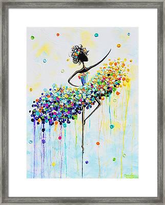 The Joyful Dancer Framed Print by Christine Krainock