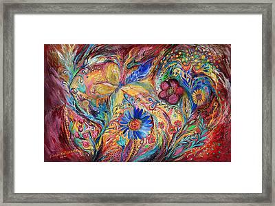 The Joyful Iris Framed Print by Elena Kotliarker