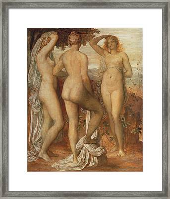 The Judgement Of Paris Framed Print by George Frederic Watts