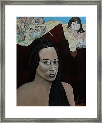The Judgment Of Casey Anthony The Sacrifice Of Caylee Anthony Framed Print by Angelo Thomas