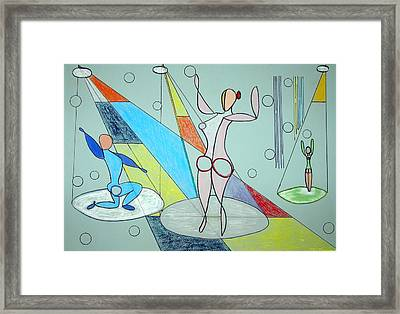 The Jugglers Framed Print by J R Seymour