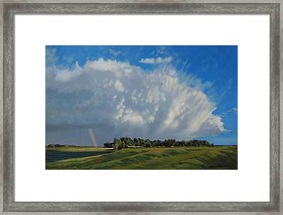 The June Rains Have Passed Framed Print by Bruce Morrison