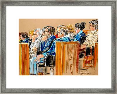The Jury Framed Print